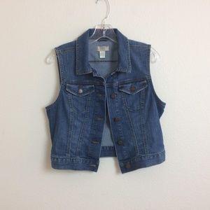 LOFT Denim Jeans Vest
